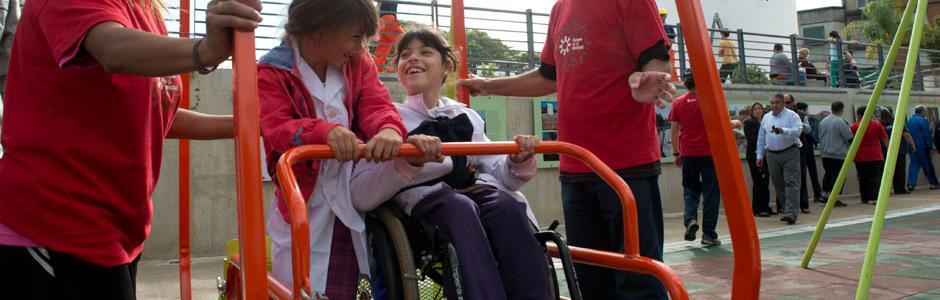 Hamaca para personas en silla de ruedas