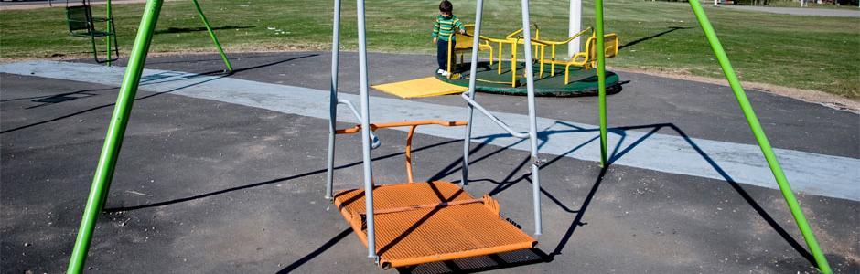 Hamaca accesible para personas en silla de ruedas
