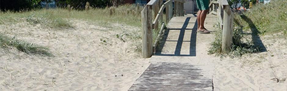 Rampa y caminero playa Malvín